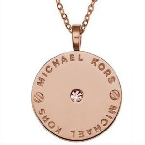 Michael Kors Logo Pendant Necklace
